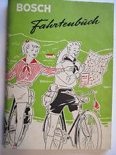 Fahrrad, original Bosch Fahrtenbuch, 64 Seiten Taschenformat, ca. 50er (39820)
