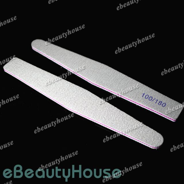 10 Pcs Nail Art Sanding File 100/180 Gray Rhombus Manicure Salon #041F4