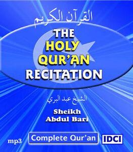 Details about Sheikh Abdul Bari Quran Recitation with English translation -  mp3 CD (QET3)