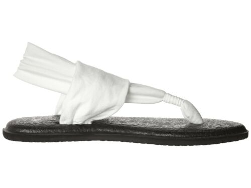 Women Sanuk Yoga Sling 2 Flip Flop Sandal SWS10001 White 100/%Authentic Brand New