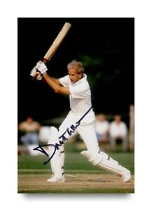 David-Gower-Signed-6x4-Photo-England-Cricket-Genuine-Autograph-Memorabilia-COA