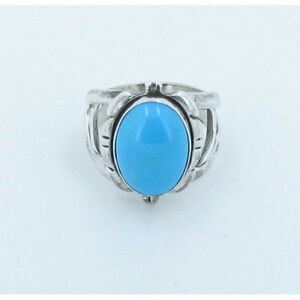 925-Sterling-Silver-Natural-Blue-Sleeping-Beauty-Turquoise-Mine-Ring-Size-6