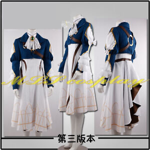 Violet Evergarden Costume Auto Memory Doll Anime Cosplay Dress Skirt