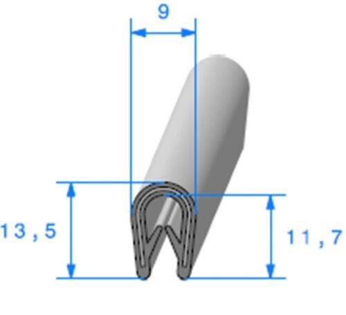 Joint Profil en u avec armature metallique GM Pince PVC Armé Noir