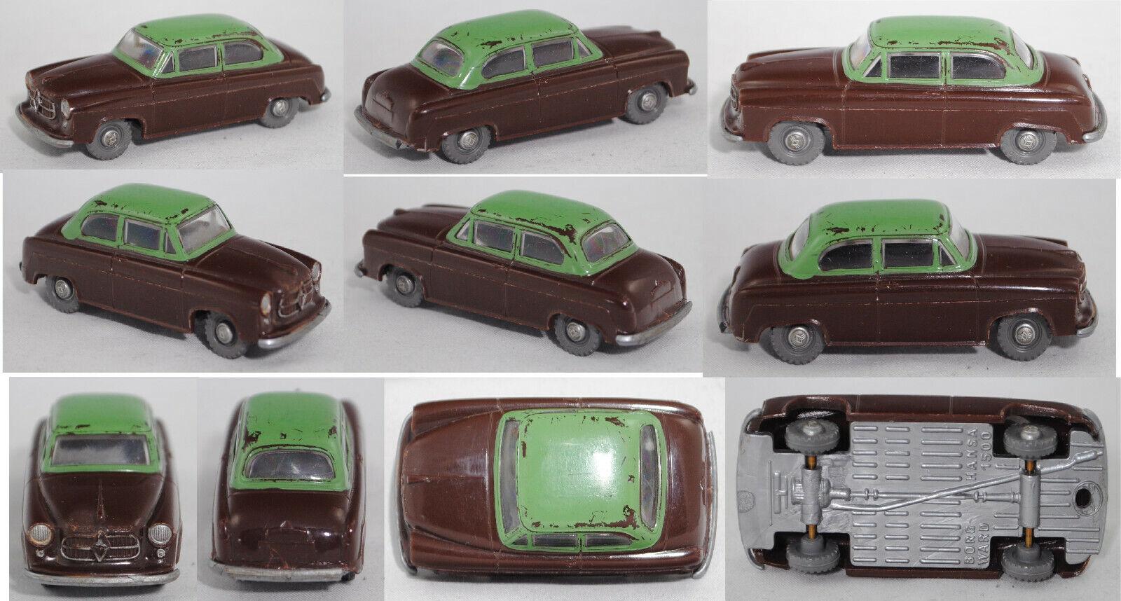 Siku Plastik V35F 00001 Borgward Isabella Hansa 1500, schokoladenbraun grün 1 60