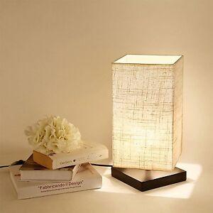 Wood-Minimalist-Bedside-Lamp-Table-Desk-Night-Light-Bedroom-Linen-Shade-Lighting