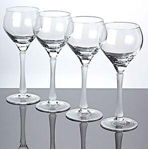 4 Weingläser Spiegelau Nordland Weißweingläser Stängel matt weiß 18,5 cm Gläser