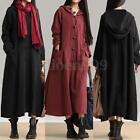 Oversized S-5XL Zanzea Women Long Sleeve Hoodies Kaftan Party Long Maxi Dress