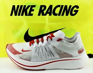 b96c5903f74d NIKE ZOOM FLY SP NEW MEN S RUNNING SHOES CLEAR WHITE UNIVERSITY RED ...