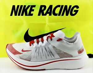 d6e23a18de9fe NIKE ZOOM FLY SP NEW MEN S RUNNING SHOES CLEAR WHITE UNIVERSITY RED ...