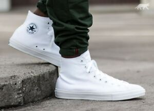 1b7cbb69d591 Men s Converse CHUCK TAYLOR ALL STAR II HI WHITE-WHITE -NAVY 150148C ...