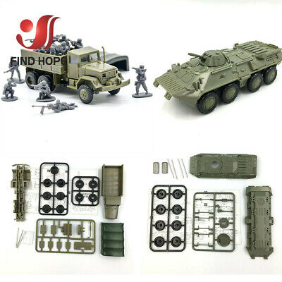 1:72 Highly Restored Military Car Toy Track Armored Re Personnel Carrier G8Z5