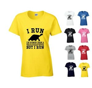 48faa0d3c I RUN SLOWER THAN A HERD Of TURTLES LADIES T SHIRT FUNNY FITNESS ...