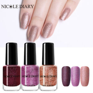 Details about NICOLE DIARY 3Bottles 6ml Purple Nail Polish Peel Off Pearl  Matte Series Nails
