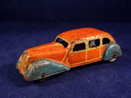Marque Ancien Toy Tin Jep France 1940 Jouet Voiture N°2 Tôle Unis srthdQ
