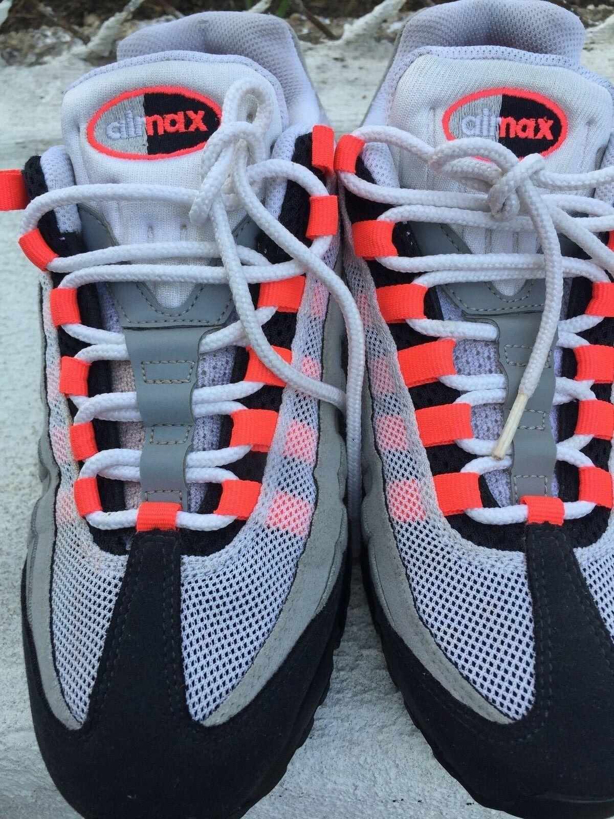 Nike air max 95 männer solar ROT schiff 609048-106 größe 9 frei schiff ROT sanft verwendet 9b9231