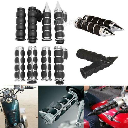 "Motorcycle Universal 1/"" Handlebar Hand Grips For Suzuki Honda Yamaha Kawasaki US"