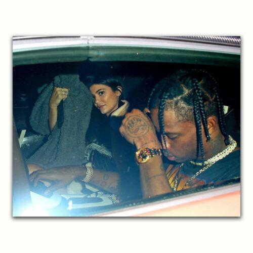 Travis Scott /& Kylie Jenner Rapper Music Album Cover Star Hot Poster K-197