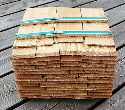 Baustoffe & Holz Holzschindeln Gartenhaus Vordach Spielhaus Basteln Clear-Cut-Textur Sonstige Lärchenholzschindeln 25cm