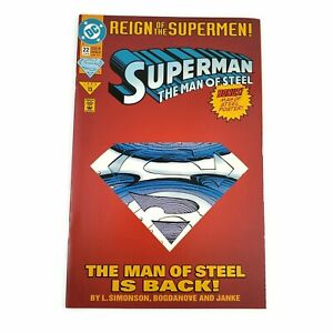 DC-Superman-22-1993-Reign-Of-The-Supermen-Part-2-Collector-039-s-Diecut-Cover-VF-NM