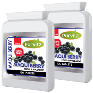 Details About 240 Maqui Berry Powerful Weight Loss Antioxidant Super Fruit Speed Up Metabolism
