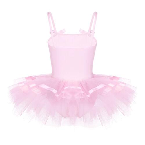 Girls Ballet Tutu Dresses Gymnastics Leotard Skate Ballerina Dancewear Costume