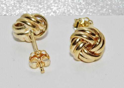 Ladies Fine 9ct Yellow Gold Fancy Knot Stud Earrings