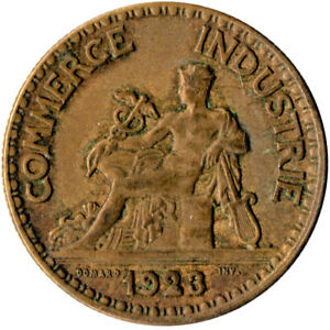 COIN-FRANCE-50-CENTIMES-1923-COMMERCE-INDUSTRIE-WT1581