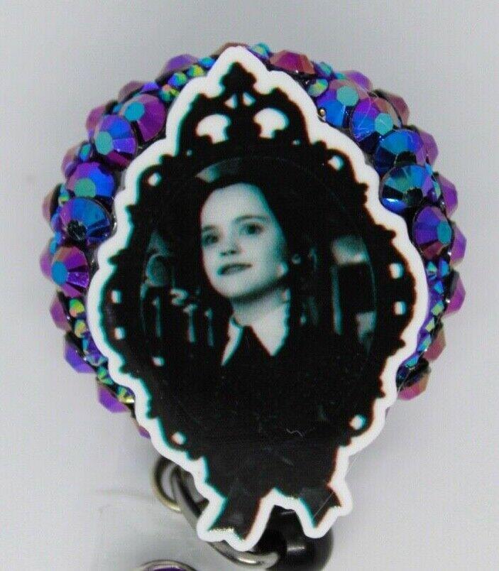 Addams Family Wednesday Badge Reel ID Holder Nurse Teacher EVS Vet Tech Dental