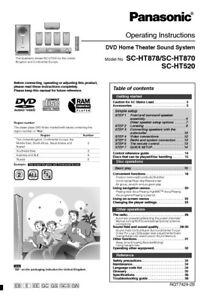Panasonic sc-ht870 user guide manual download pdf.