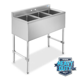 Three-3-Compartment-Stainless-Steel-Commercial-Kitchen-Bar-Sink