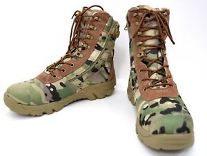 MTP-Tactical-Boots-Side-Zip-MULTICAM-Camouflage-Cordura-Airsoft-Army-Combat-Boot
