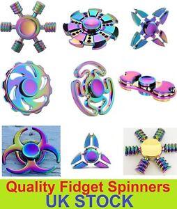 20x-Metal-Arco-Iris-intranquilo-dedo-hilanderos-mano-Focus-SPIN-ALUMINIO-estres-juguete-UK