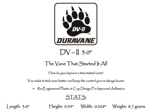 "3.0/"" Pkg 100  ***When Accuracy Counts*** Black DV-II Duravane Vanes"