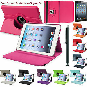 PU-Leather-360-Rotating-Smart-Stand-Case-Cover-For-APPLE-iPad-2-3-4