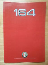 ALFA ROMEO 164 range 1988 UK Market brochure - 3.0 V6 & Lusso