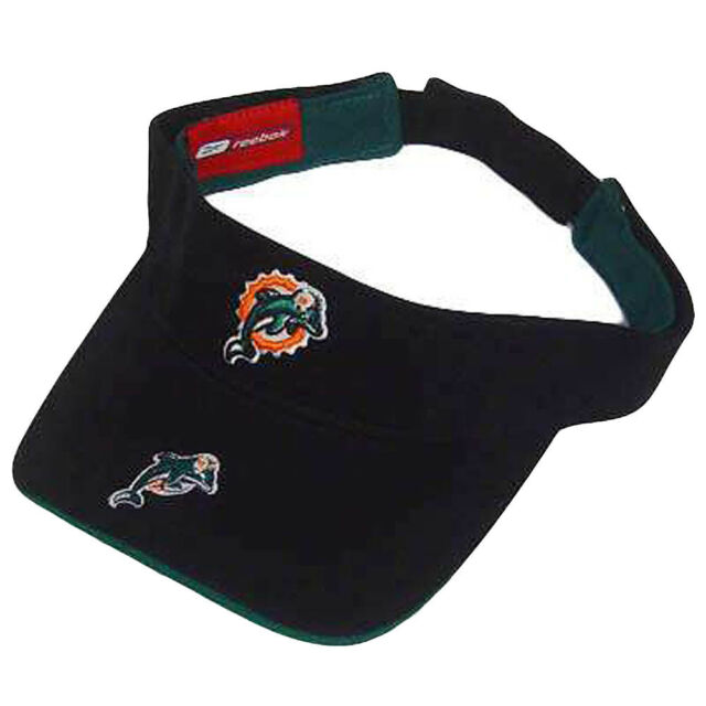 27004222 NFL Miami Dolphins Reebok Black Visor Hat Cap Youth Kid