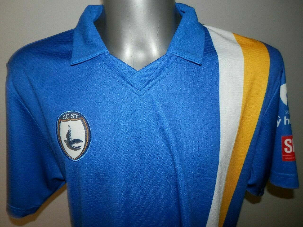 CCST FC Cardiff City blueebirds Home Football shirt Jersey Soccer Kukri size - L