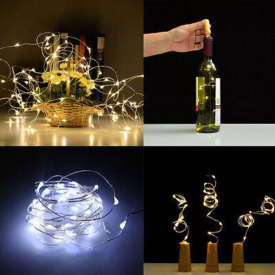 Solar LED Wine Bottle Cork Shaped String Light 10/8 LED Night Fairy Light Lamp