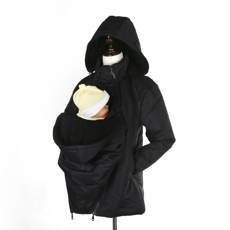 Chaqueta portabebés 3 en 1 Warm Winter Maternity - Resistente a la intemperie - Negro o Gris