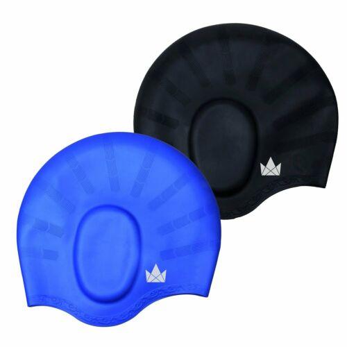 für Lange Haare The Friendly Swede Silikon Badekappe 2-er Set mit Ohrenschutz