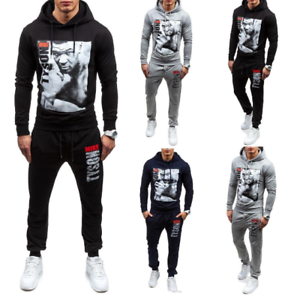NEW Mens Legend MIKE TYSON Tracksuit Hoodie And Pants Men Sportswear