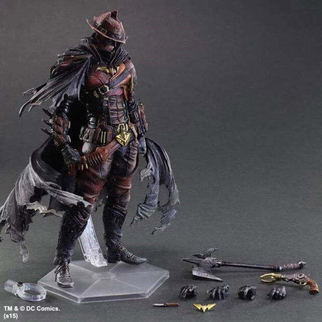 DC Comics Variant Play Arts Kai Batman Timeless Wild West Action Figure In Box