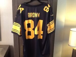 new styles a1c70 3f455 Details about NFL Jersey ANTONIO BROWN 2X COLOR RUSH XXL #84 Pittsburgh  Steelers Nike Dri-fit
