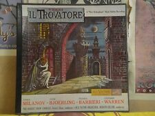 VERDI IL TROVATORE, MILANOV BJOERLING BARBIERE WARREN - 2 LP LM 6008