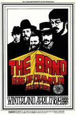 MINT The Band 1969 BG 169 SHOW BACK Fillmore Card 1st LIVE SHOWS!