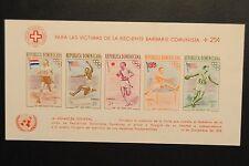 1957 Republica Dominicana Melbourne Olympics Sheet Jesse Owens Bob Mathis #
