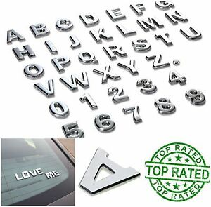 image is loading 3d metal emblem sticker chrome letters number 40