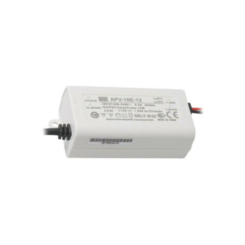switched-mode LED 15W 12VDC 1.25A 180-264VAC MEAN WELL APV-16E-12 Power supply