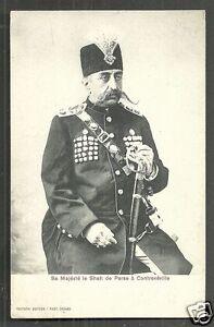 Shah Persia Muzaffar ed-Din Uniform Contrexéville France 1902